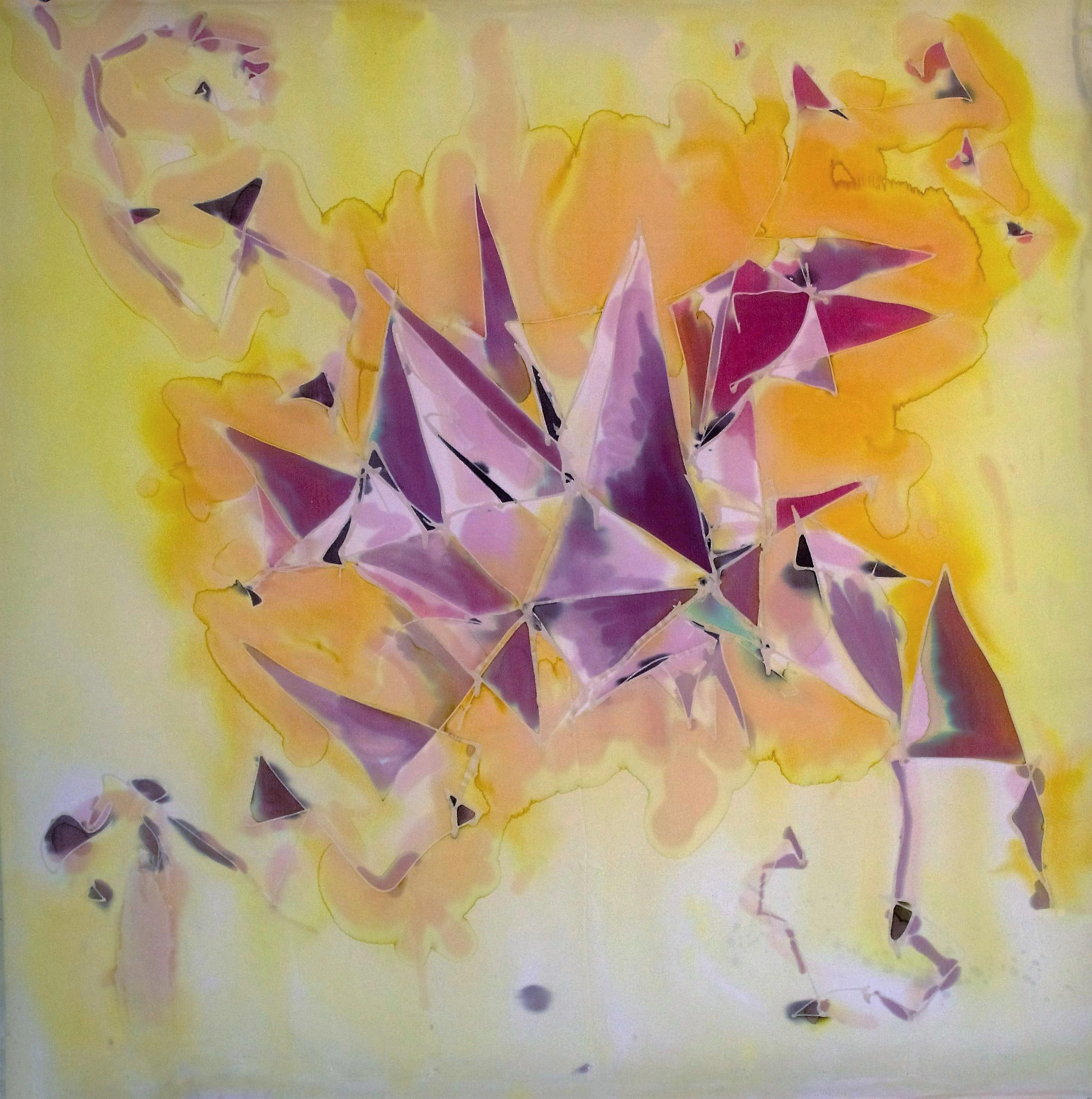 Yellow with Purple Geometric