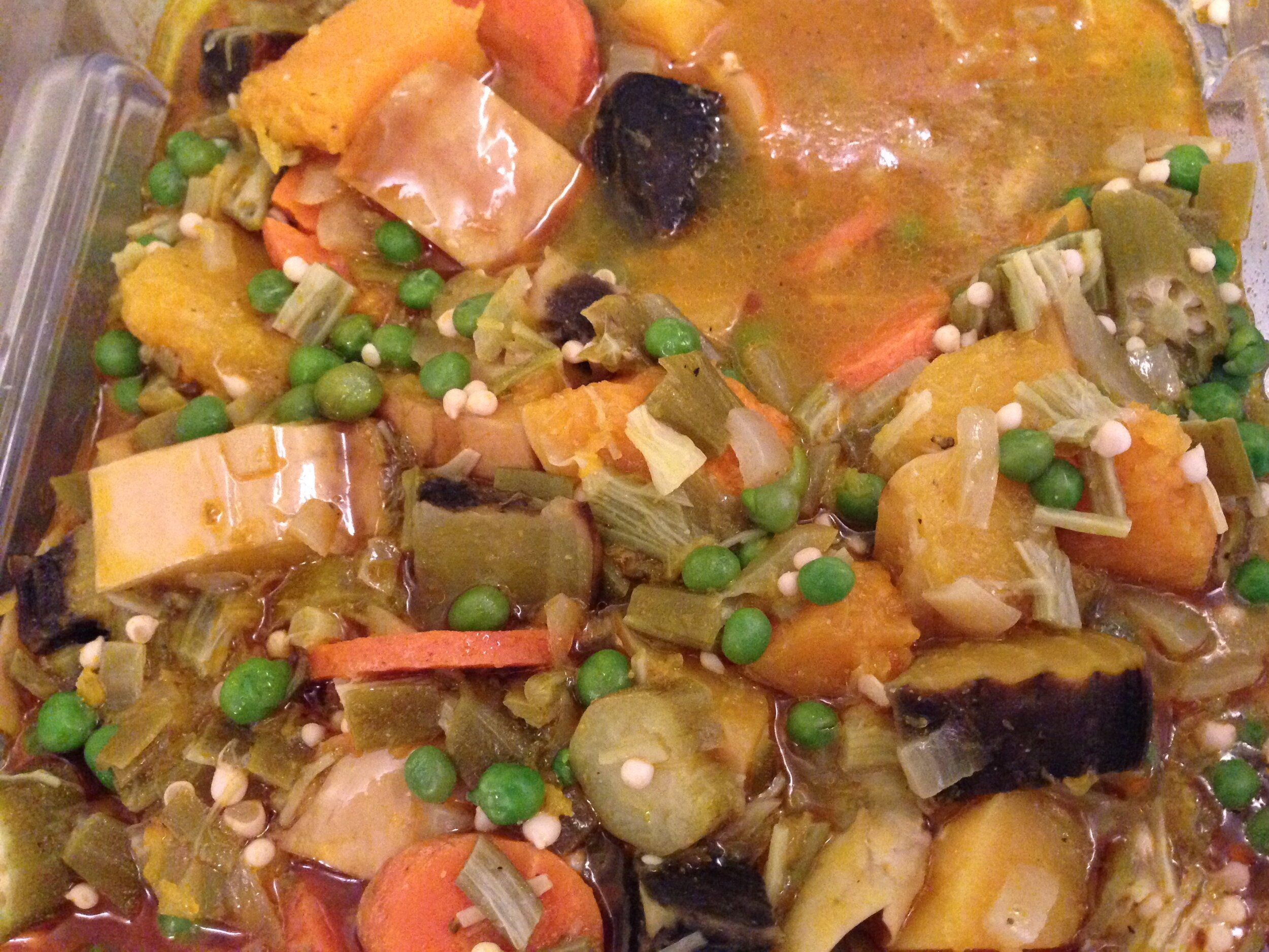 Roasted Butternut Squash & Okra Stew