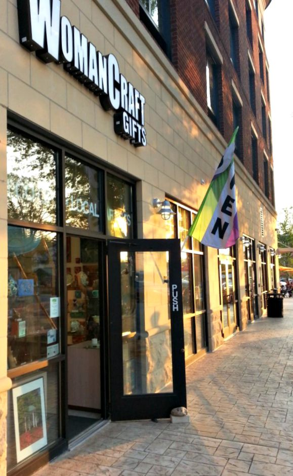 WomanCraft's downtown Carrboro location, at 320 East Main Street...we'rebetween Ceremony Salon and Calavera Tequila Bar, in the new Hampton Inn complex.
