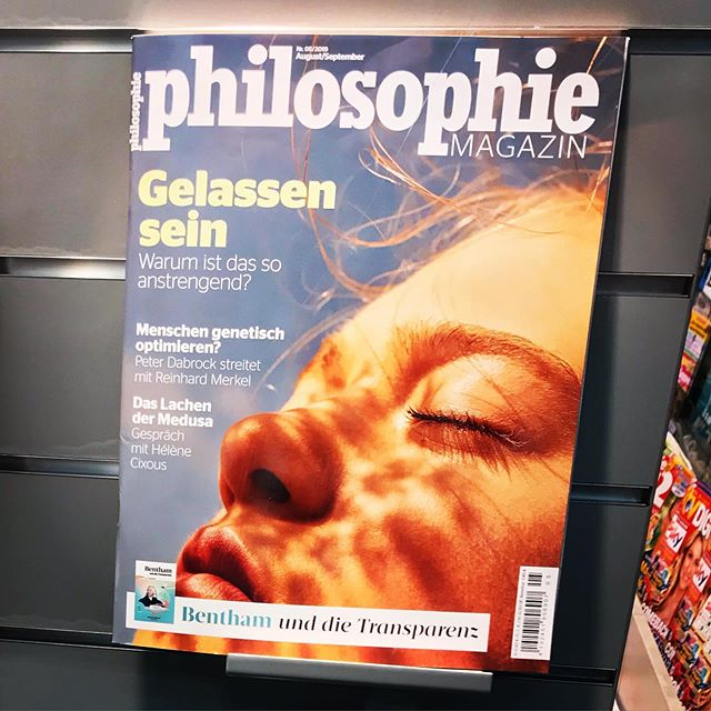Only in Germany are Bentham and Cixous tabloid celebrities #philosophiemagazin
