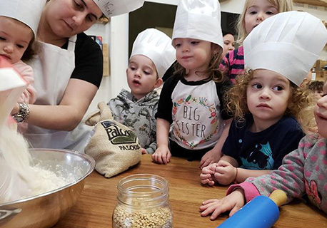Tot Shabbat - Join us to prepare for Shabbat as we make challah, sing songs, and have a special story time. Your child will take a delicious piece of challah to bake at home and share with family.GREENWICH VILLAGE CAMPUS (207 THOMPSON STREET) Friday 11:45-12:30 (Ages 10 months – 3.5 years)No Class: Nov. 29th