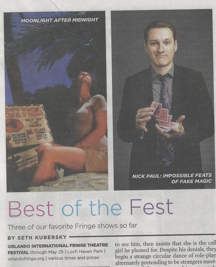 "Orlando Weekly ""Best of the Fest"""