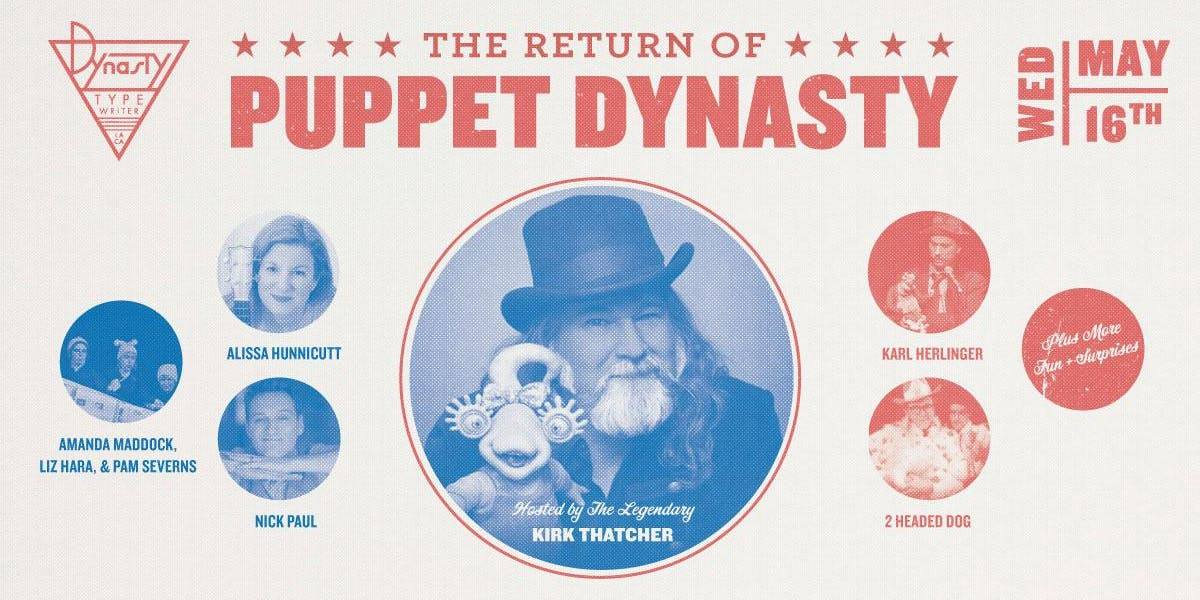 Nick Paul will be performing at Dynasty Typewriter in Los Angeles with Jim Henson puppeteers.