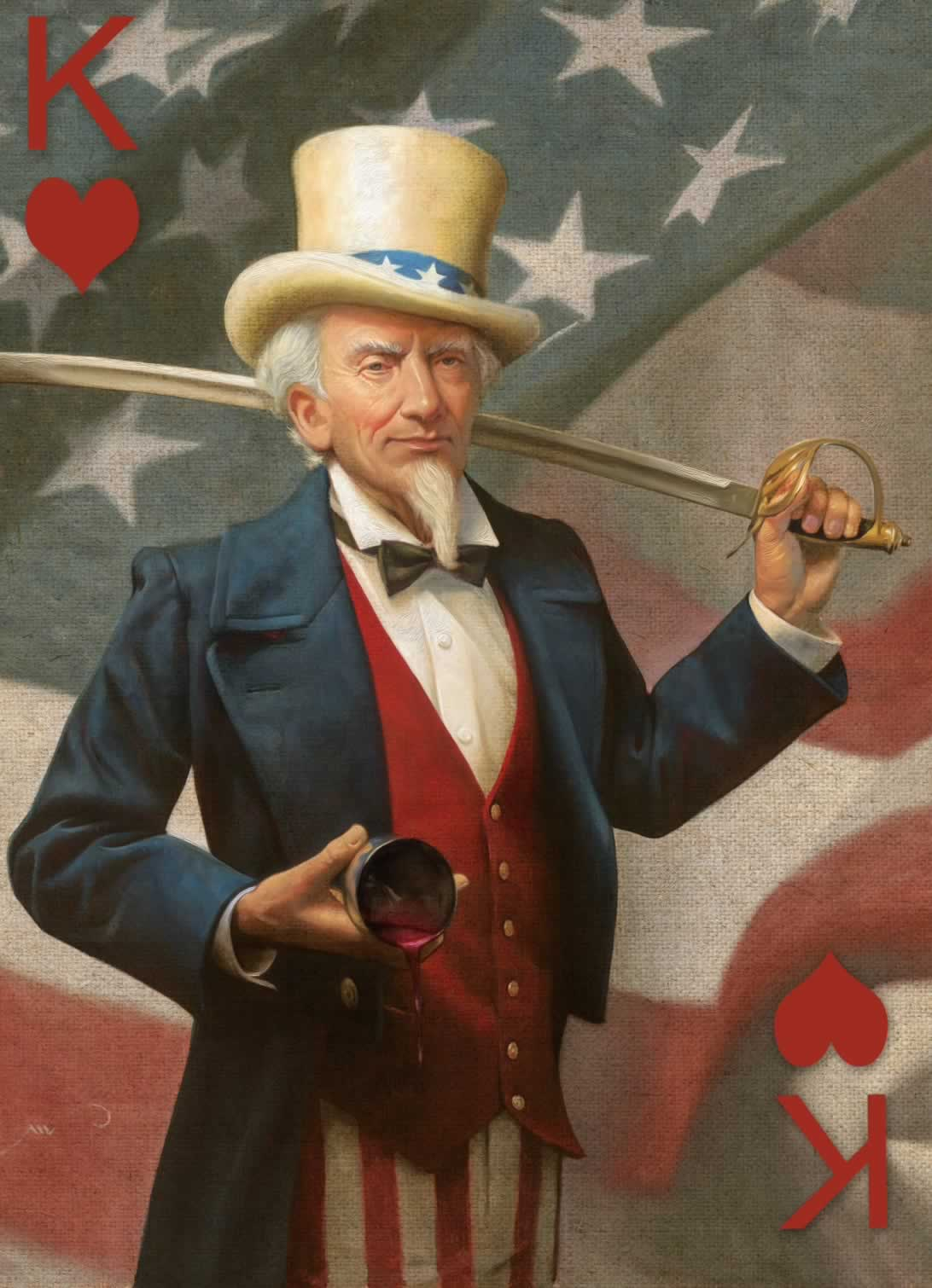 King of Hearts, illustrated by Mike Wimmer, exhibited at the Norman Rockwell Museum in Massachusetts, as part of the  52 Reasons to Love a Vet  project.