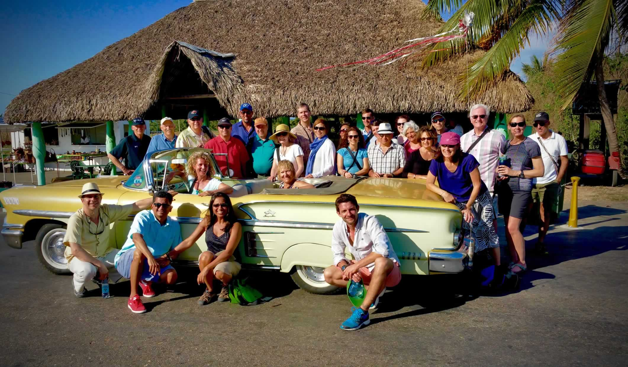Group of UBELONGers in Cuba, with Co-founder Cedric Hodgeman on bottom right