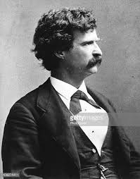 Mark Twain, America's first man of letters and humorist.