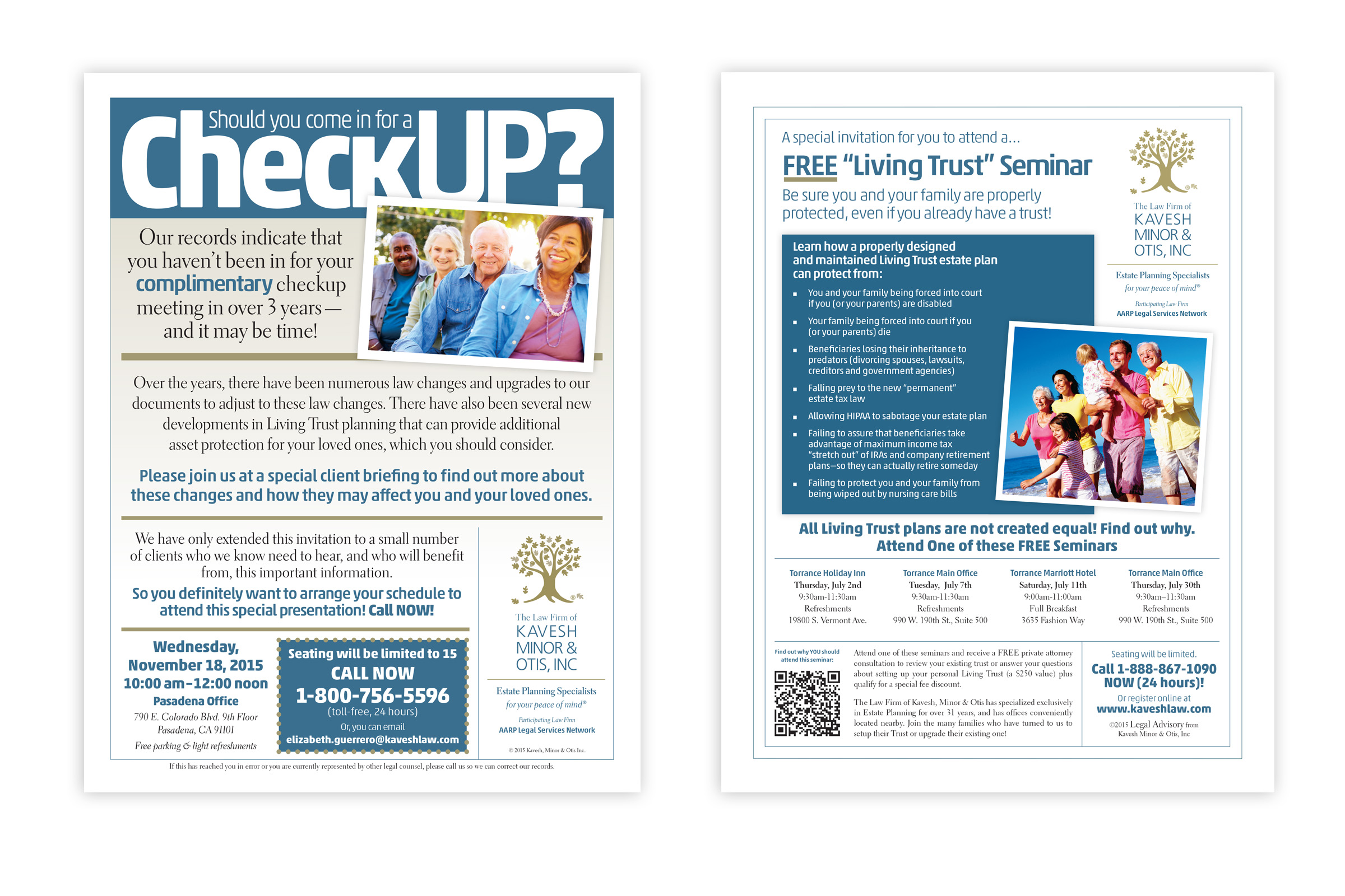 Living Trust Seminar Direct Mail Flyers