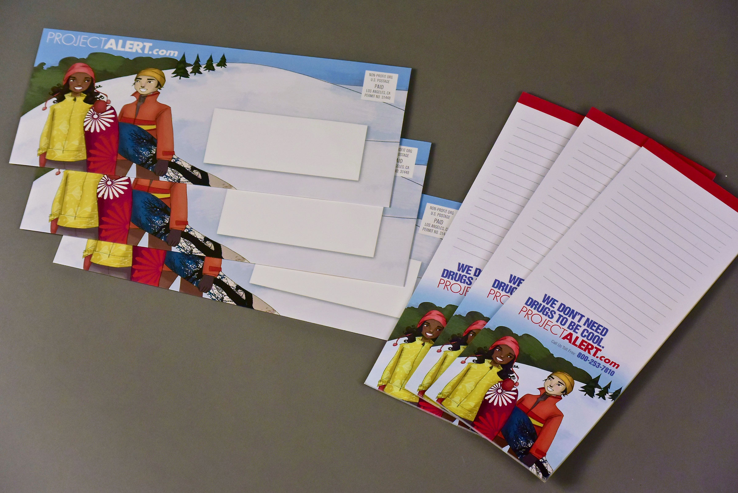 Holiday Notepad and Envelope