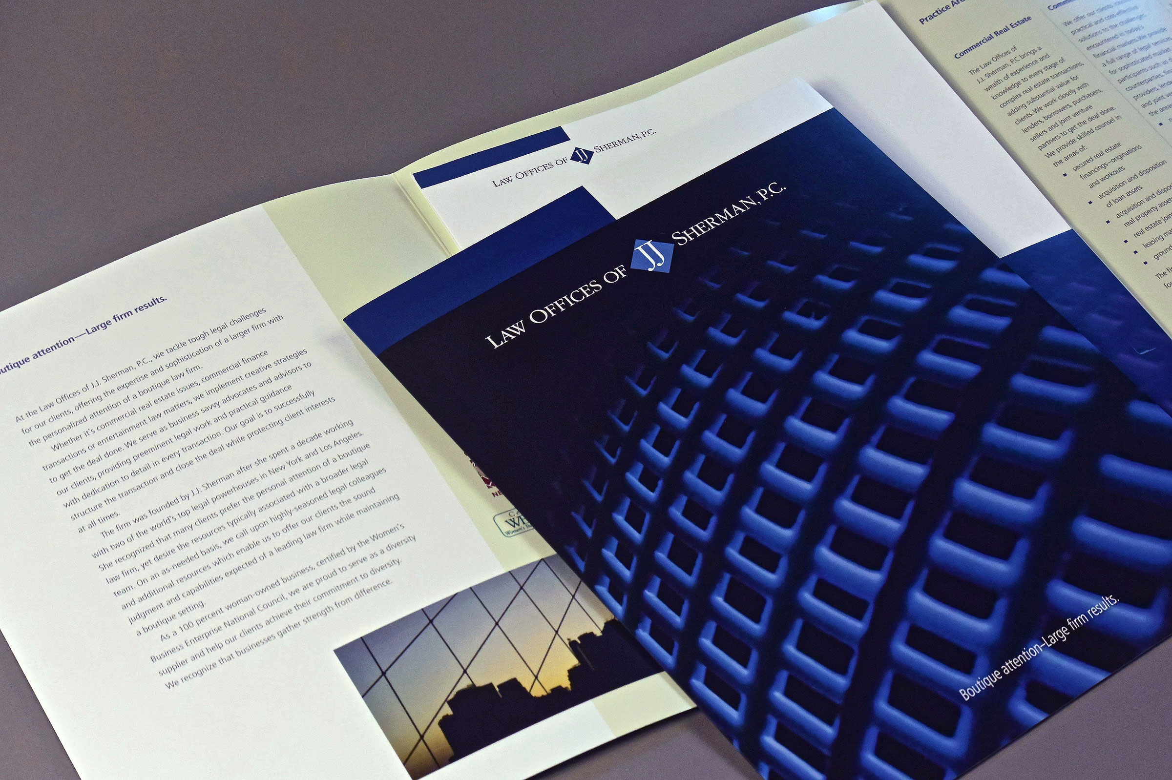 Professional Services Brochure with Internal Pocket and Insert