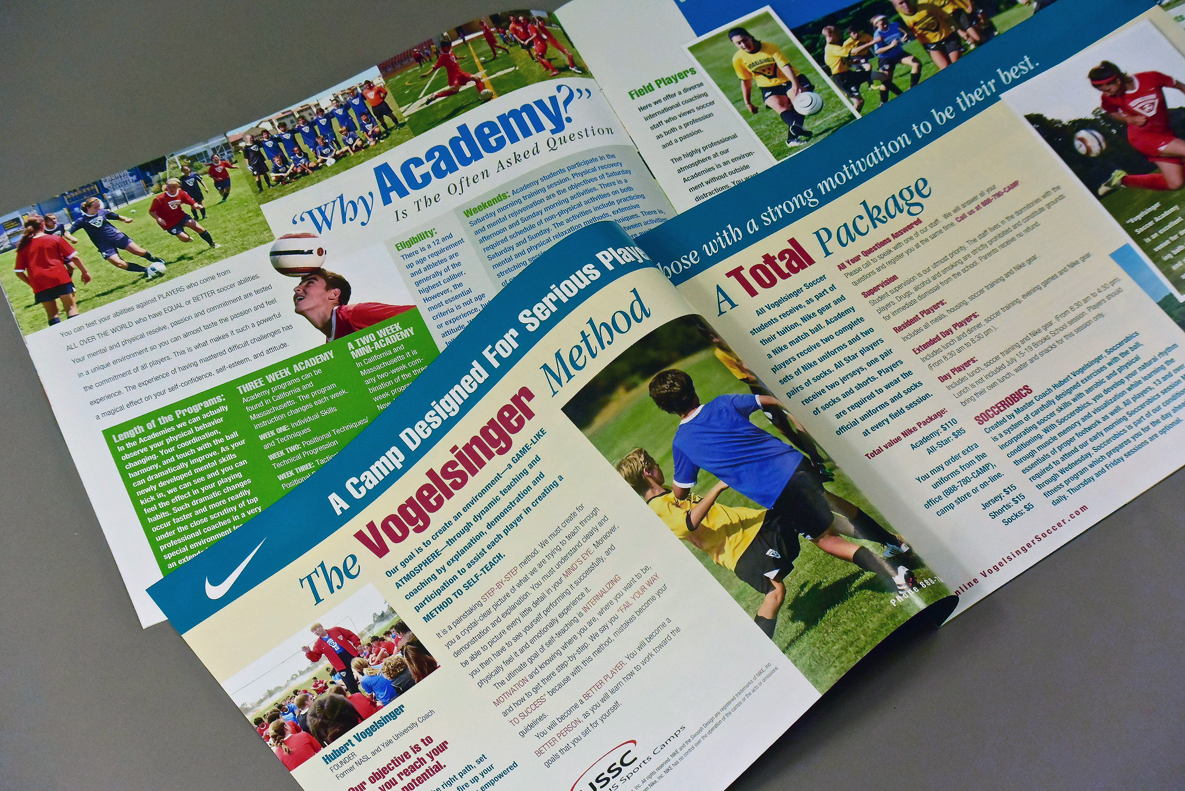Summer Soccer Camp Brochure (interior pages)