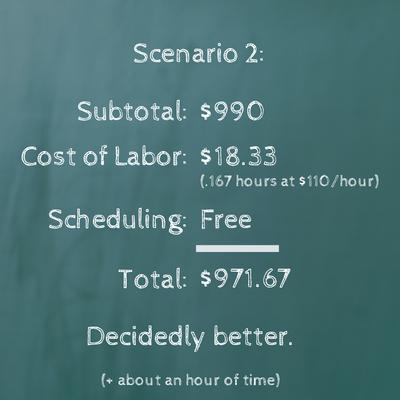 Scenario 2 - TimeTap online scheduling provided