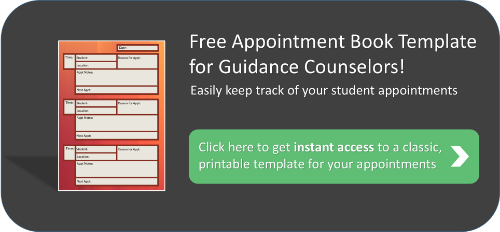 Free Appointment Book Template for Guidance Counselors