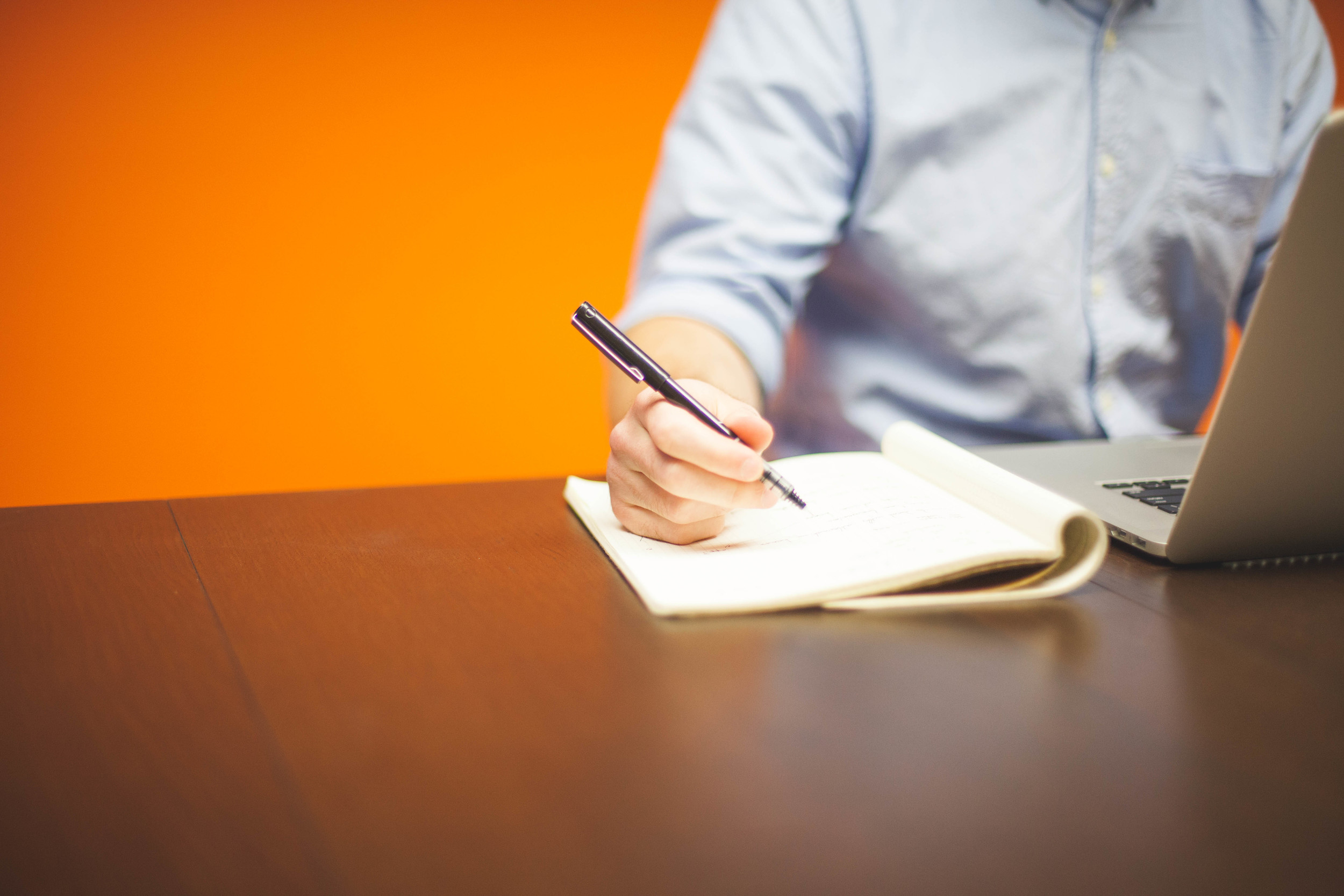 Take notes following candidate interviews