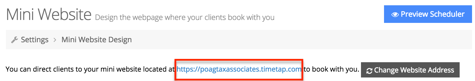 Have clients to click on your scheduler web address