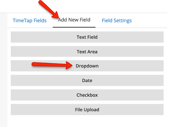 Create a new service-specific custom field