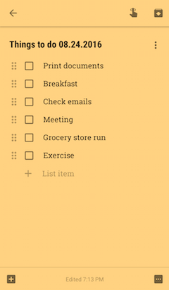 After organizing my list