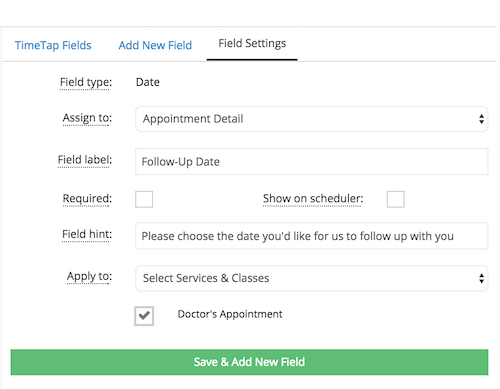 Adding a date selector field