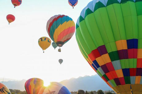 Online booking for hot air balloons
