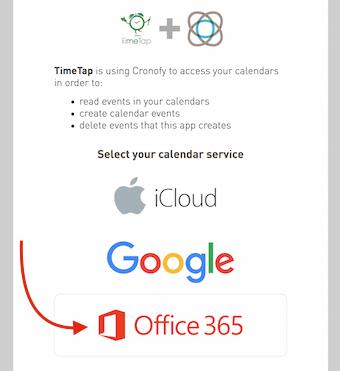 "Choose ""Office 365"""