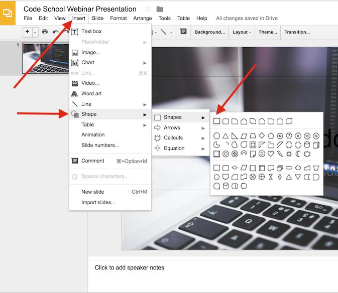 Add a shape and create an overlay