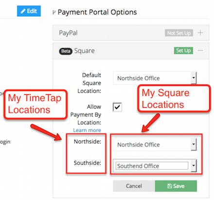 How to map your TimeTap locations with your Square locations