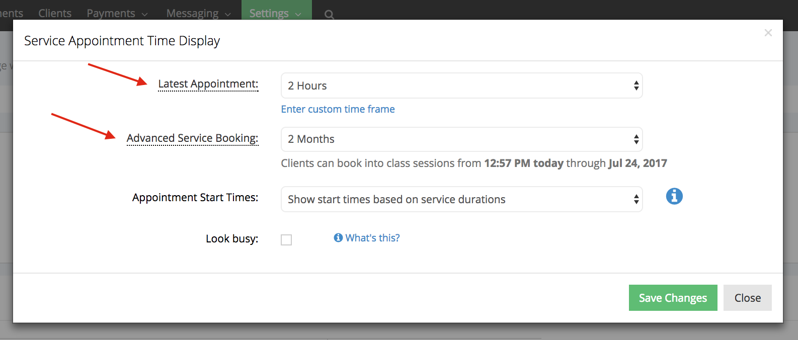 How to reduce the number of options on the Time Panel for your scheduler