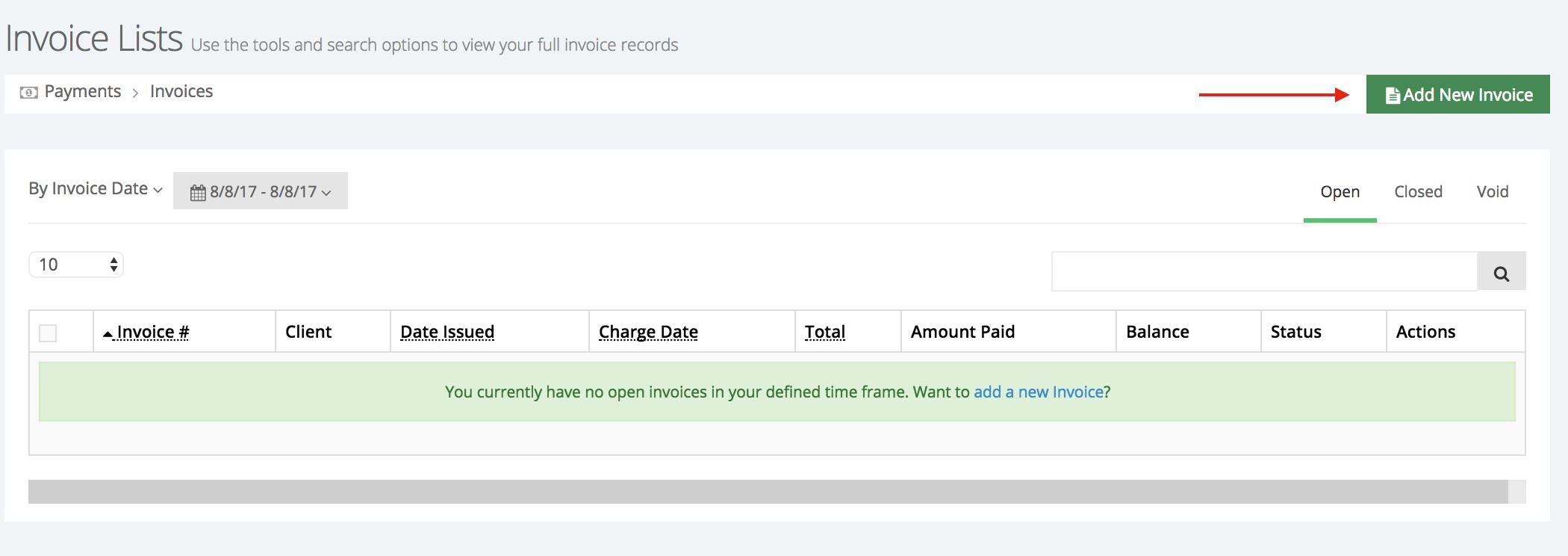 Add a new invoice