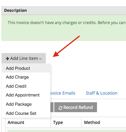 Add product as line item