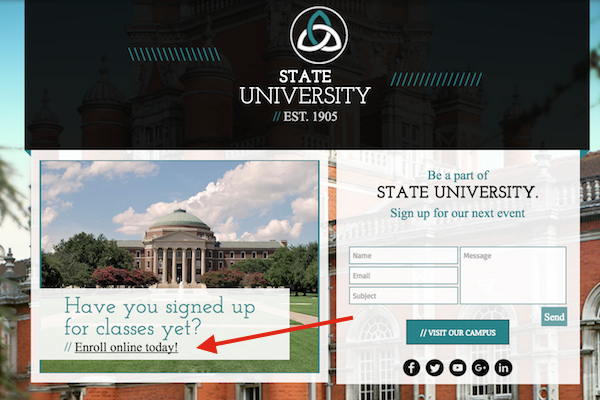 Link to your scheduler from the university's website