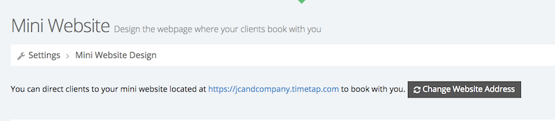 Send your online scheduler's web address to clients