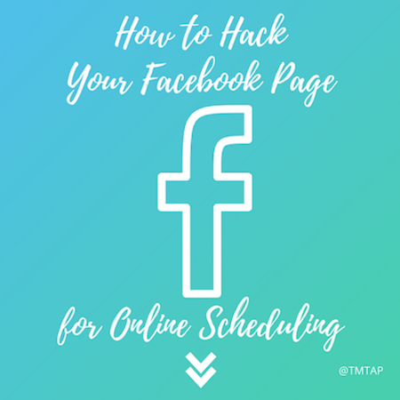 Add a web scheduler to your Facebook page