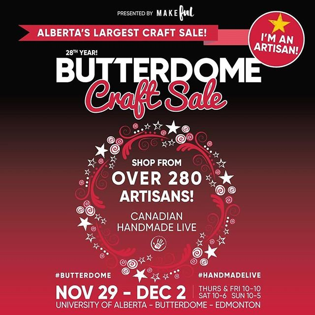 Today kicks off the Butterdome craft sale! It will be my last craft show of the year and the last craft show as Dixie Clothing here! Find me in booth 411. Can't wait to see you there 😊  #yeg #yegmade #yegdesigner #butterdome #handmadelive #edmontonmade #edmonton #shophandmade #localedmonton #shoplocalyeg #shopyeg #yeghandmade #butterdomecraftsale #localyeg