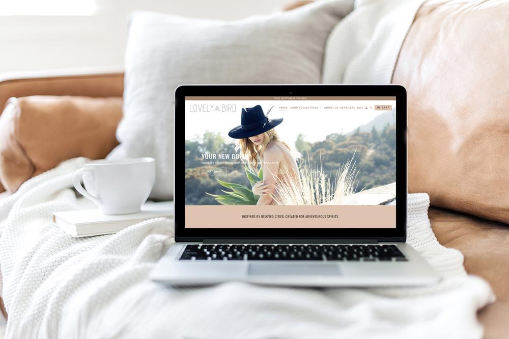 Lovely Bird Website design by Amber Seagraves