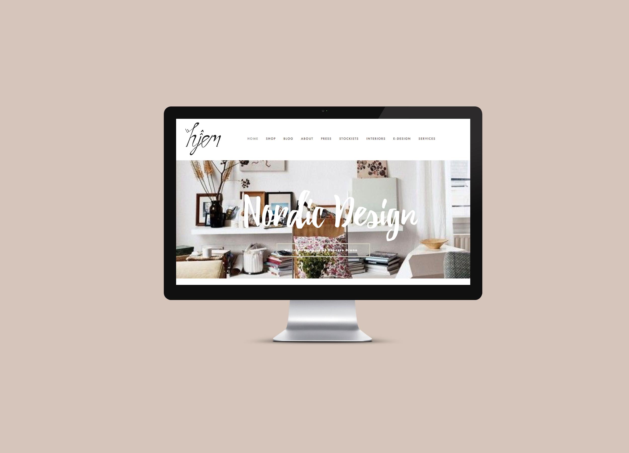 Hjem Design Website