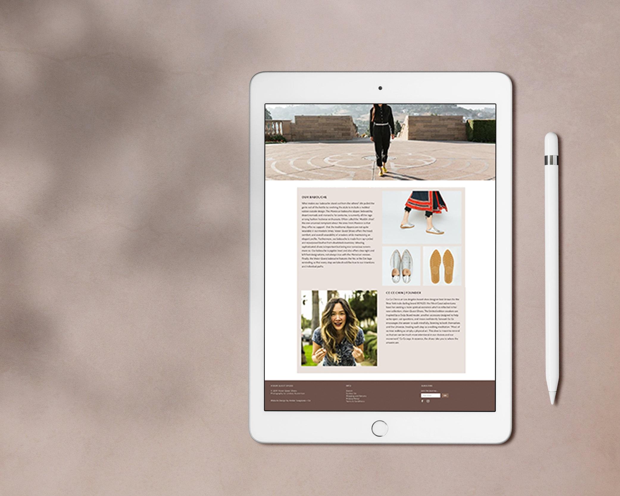 shopify e-commerce - Vision Quest Shoes