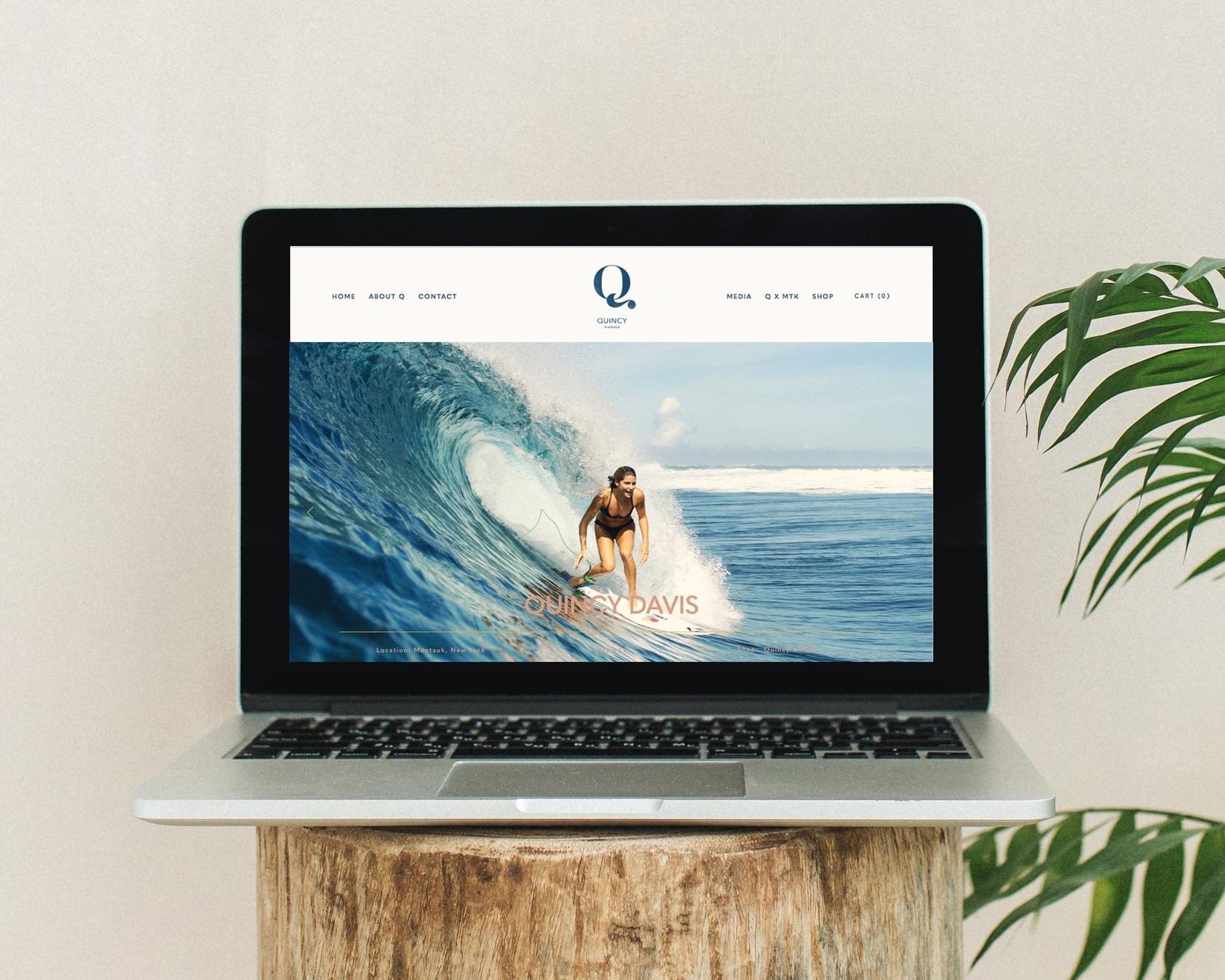 website | E-comm design - Quincy Davis