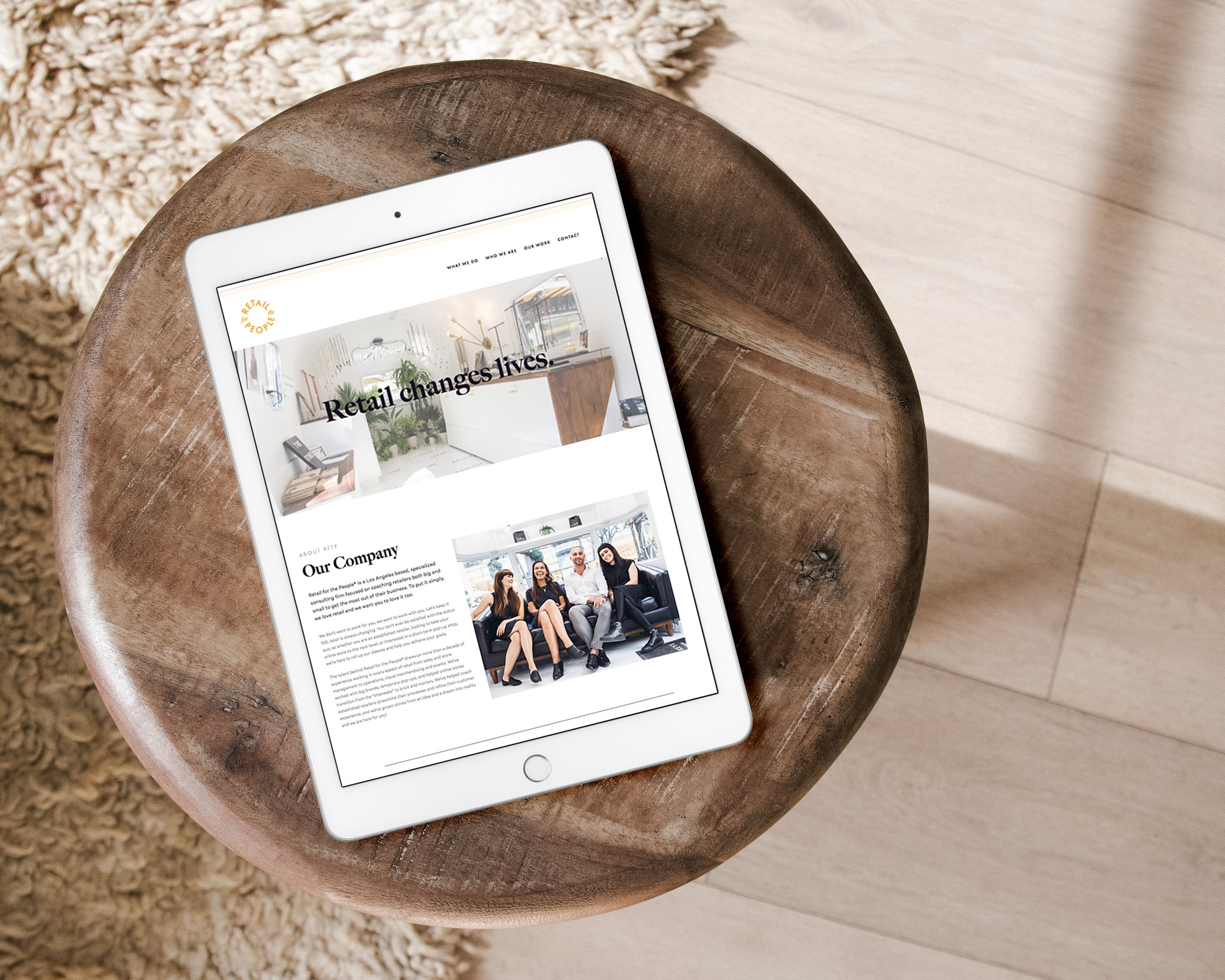 Website design - Retail for the People
