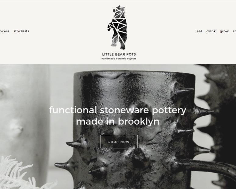 E-commerce design - Little Bear Pots