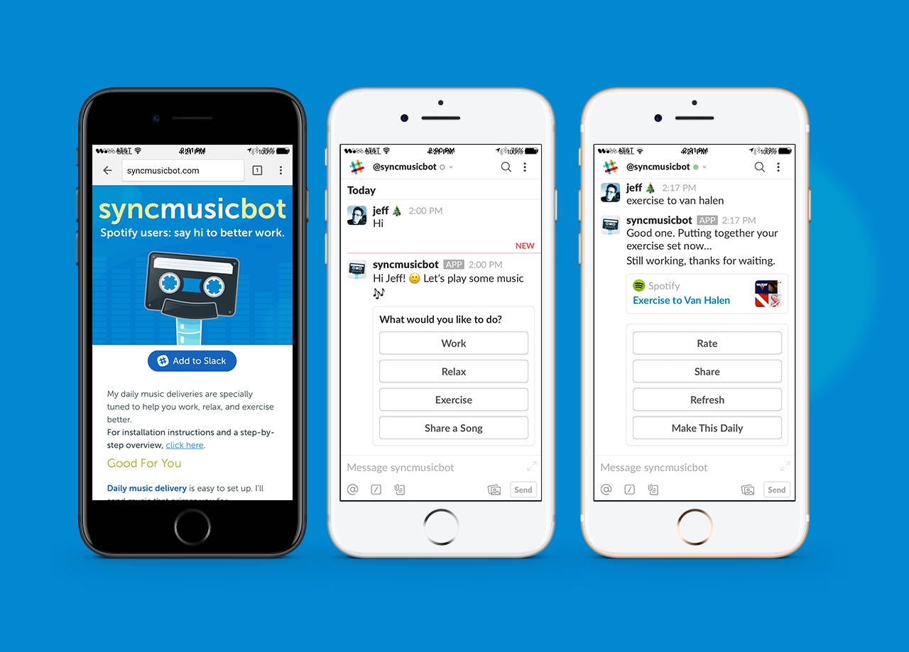 Sync Music Bot–Chatbot for Slack