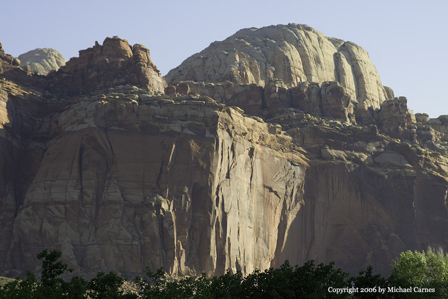 A dome at Capitol Reef, at sunrise