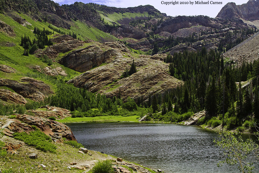 Lake Blanche, a popular destination for day hikers