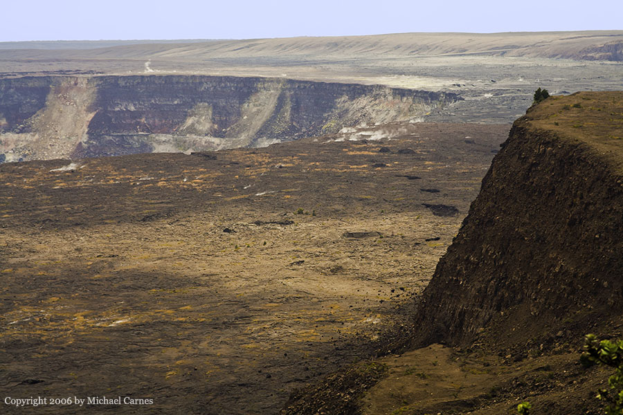 The main crater in the Kilauea Volcano on the Big Island