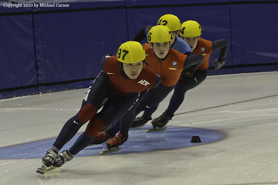 Short track speed skating. U.S. Nationals 2010