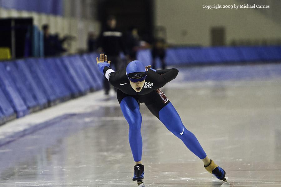 Long track speed skater, U.S. Nationals 2009