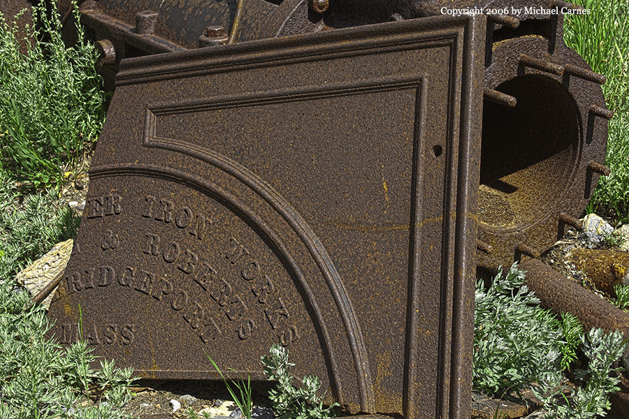 Nameplate from an abandoned mine, Days Fork