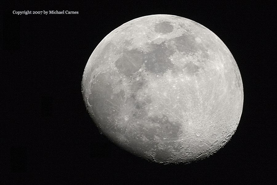 "Waxing Gibbous moon. Celestron 5"" SCT at prime focus"