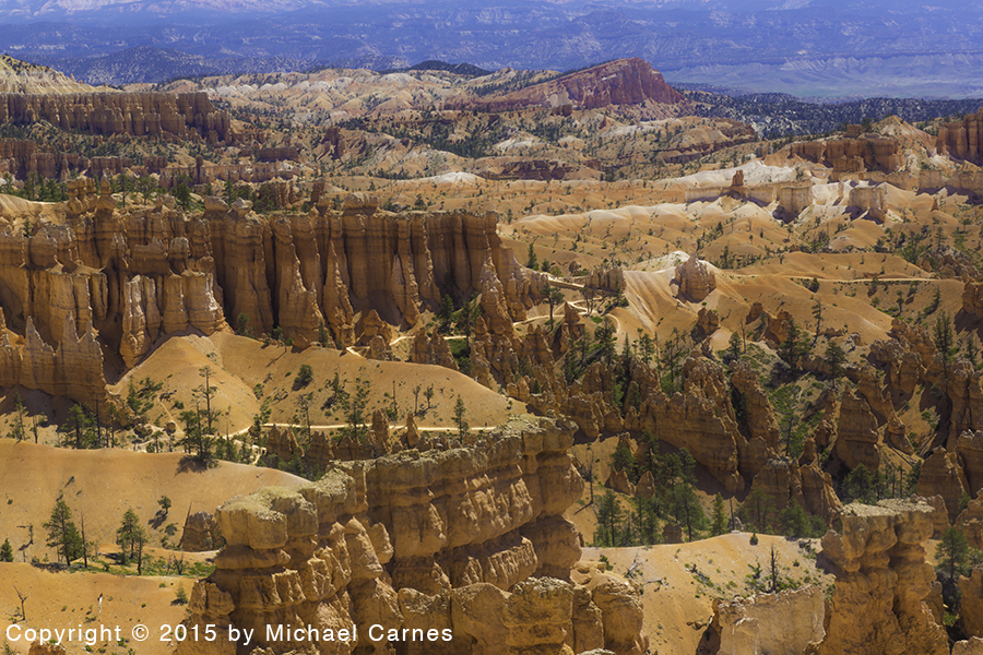 This is the first sight you see when you look down into Bryce Canyon.  It gets better from there.