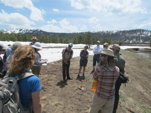 The four post-conference fieldtrips — touring a variety of restoration sites around the perimeter of Lake Tahoe — filled up well before the conference, prompting a signup sheet at the conference for any openings.