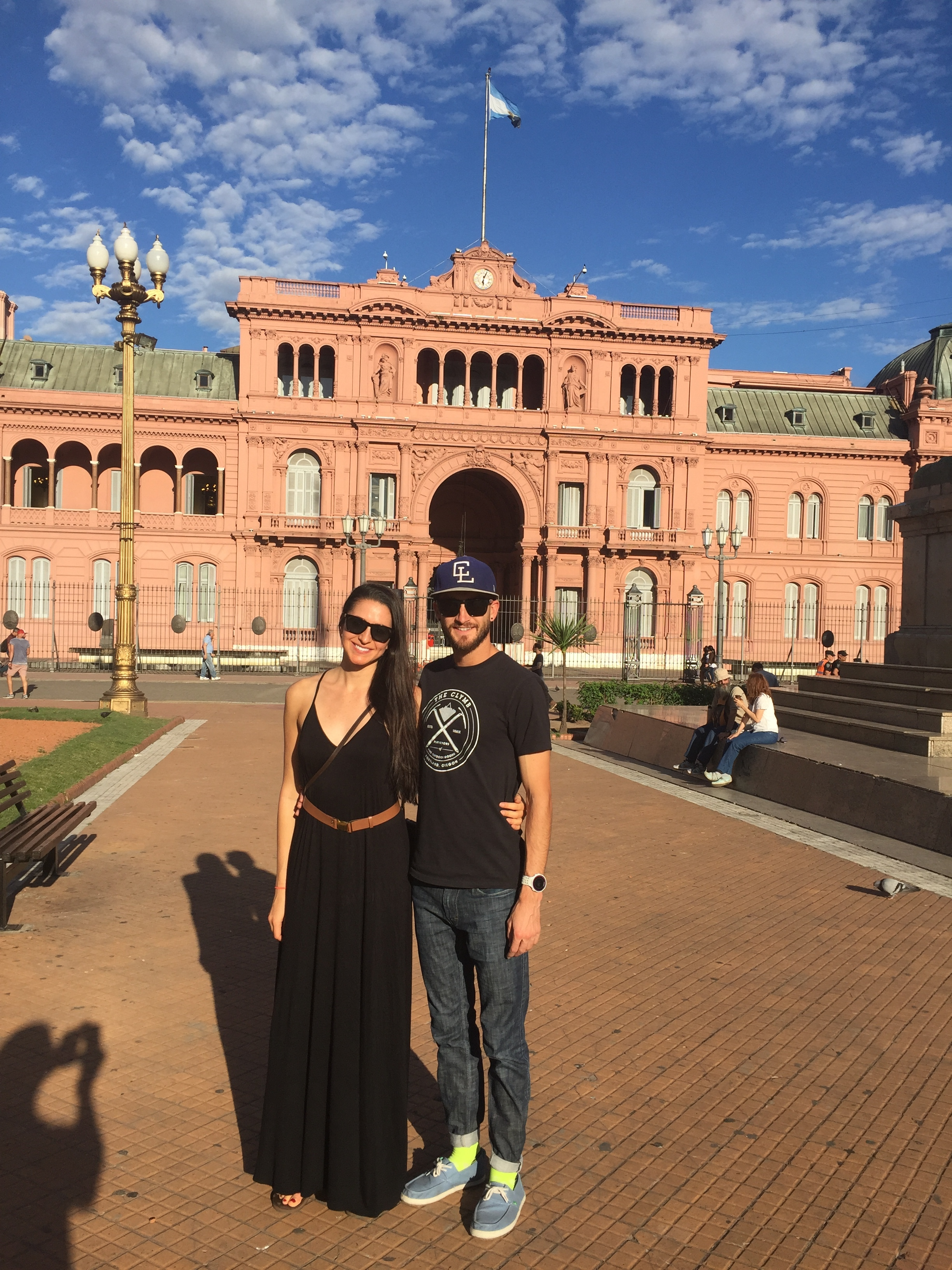 The President's house in Buenos Aires, Argentina.  Kim and I celebrated a year together while traveling!