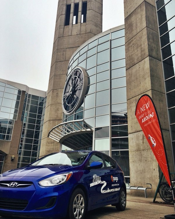 Pogo CarShare recently launched a partnership with MacEwan University. In addition to the existing zone surrounding the University, Pogo cars can be parked for free in any surface lot at MacEwan's City Centre Campus.